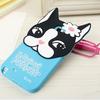 3D Cartoon Bulldog Silicone Case For samsung galaxy note2 N7100 note3 N9000 Cute Dog Soft Back Phone Cover