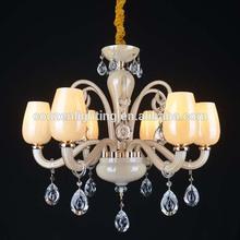 GZ40185-6P Art Design Candle Crystal hanging light