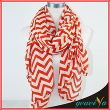 Twill Polyester Voile Chevron Infinity Scarf Wholesale