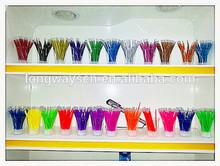 2014 Cheapest promotion ball pen refill,0.7mm plastic refill,colorful gel refills