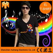Fashionable Innovative Custom EL T-shirt