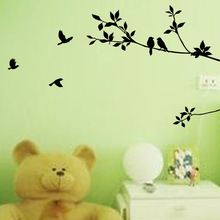 Zooyoo New Removable Wall sticker Vinyl Wall decal home decor Wall sticker house decorative Wallpaper tree and bird