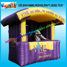 2014 Commercial Inflatable Tradeshow Booth, Portable Inflatable Moving Shop for Sale