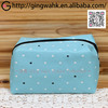 Fuuka Japanese Stylish Present Washable Polyester Leisure Blue Mini Dot Kimono Yukata Makeup Phone Money Stationery Travel Bag