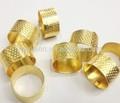 de metal de coser dedal