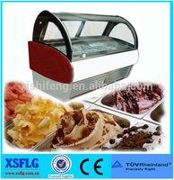XSFLG Stainless steel ice cream display freezer 20 pans