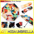 Alta qualità 3- pieghevole telaio vento prova ombrello di seta naturale manuale aperto sia per sole e pioggia/bella colorato stampa checker
