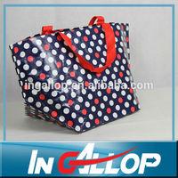 dot folder pp woven bag with printing
