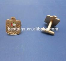 UAE falcon cuff links, UAE emblem cufflinks golden, metal cufflinks UAE falcon