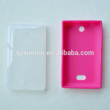 Translucent TPU gel silicone case for Nokia Asha 500 case