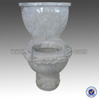 Carrara Marble Flower Carving Stone Toilets