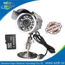K809 60mm IP66 Housing Waterproofing Micro SD Card Digital bullet Camera 5 megapixel cctv camera