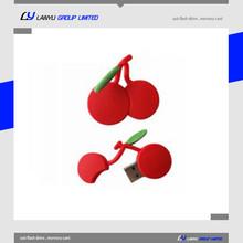 OEM PVC Fruit flash drive cherry shape usb memory stick 128MB