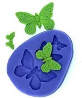Butterfly Set Fondant Mold Silicone Sugar Mold Craft Molds DIY Gumpaste Flowers Cake Decorating