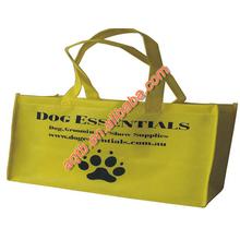 yellow eco friendly logo printed laminated non woven tote bag