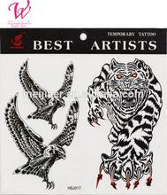 OEM welcome cusomized tattoo sticker \huge tiger designs