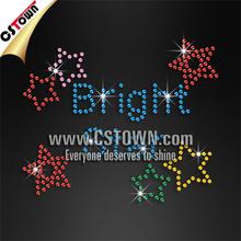 Sparkling bright star pattern iron on sequins heat transfer