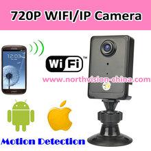 720P wifi p2p ip camera with h.264, night vision, video recording