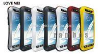 Love Mei Gorilla Glass Shockproof Waterproof Aluminum Metal Case Cover for Samsung Galaxy Note 2 N7100