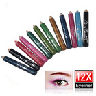 12 Color Pro Cosmetic Shadow Makeup Eye Lip Liner Eyebrow Eyeliner Pencil Beauty Tool Set, HCK063