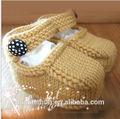 Hilo algodón 100% ganchillo bebé botines, de alta calidad para hacer punto zapatos de bebé