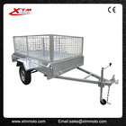 Made in zhejiang galvanized 7x5 box trailer with mesh cage