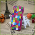 For iphone 5s phone case with embedded holder, hard plastic mobile phone cover for iphone with china manufacturer