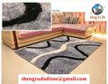Não. 1 shaggy tapete fábrica de melhor qualidade menor preço 100% poliéster tapetes shaggy de seda novo design de luz de cor cinza tamanho grande