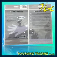 BOPP header self adhesive rubber bands packing plastic bags