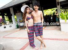 2014 new Type japan style rakuten Ranking Swimwear Border Lovers