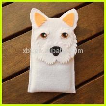 Draping Animals Felt Cell Phone Case/3D Dog Felt Bag