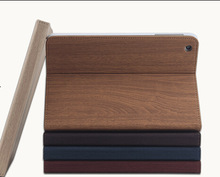 Hot Selling Wooden Grain Pattern Leather Case For Ipad 2 3 4