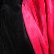 warp knitting velvet soft 100% polyester or10% spandex black velvet fabric