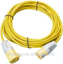 industrial socket to industrial plug extension cord IP44