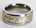 de acero inoxidable escalas de serpiente comodidad en forma de participación de la fiesta de boda de banda del anillo