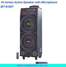 Portable Active Stage Speaker with 10inches subwoofer