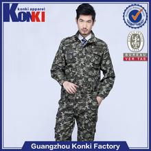 Custom high quality camouflage color cheap military uniform in bulk