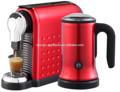 máquina de café cápsula com cappuccinador