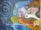 buddha abstract oil paintings,Wall art