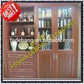 espresso de madera de haya de gabinete de cocina con agitador de la puerta de estilo
