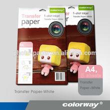 2014 new design inkjet heat transfer photo paper white/dark for cotton t-shirt