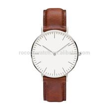 Rococo X1011 HOT Sale Genuine Leather Watch Men, Popular Leather Wrist Watch