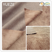polyester patterned micro suede fabric for sofa/garment/bags