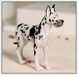 custom plastic animal toy, emulational spotted dog model toy, pvc plastic animal toy