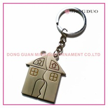 alloy girl and boy lovers house keychain