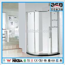 white 8mm temper glass shower door weather stripping