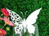 2014 NEW hollow-out white butterfly wedding place card holders