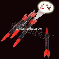 rocket shaped led projector light pen,custom logo projector pen for promotion , Customized Logo Led ,plastic led projector pen