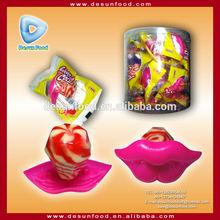 Lip shape lollipop toy candy