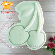 O sabão molde de silicone/mão molde do chocolate/cereja molde do sabão